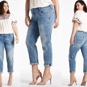 Plus sz 16 REESE High-Rise BOYFRIEND Wichita Jeans